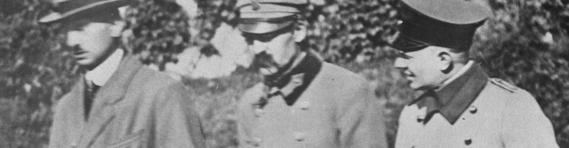 Józef Piłsudski na zdjęciu wykonanym w czasie jego internowania (domena publiczna)