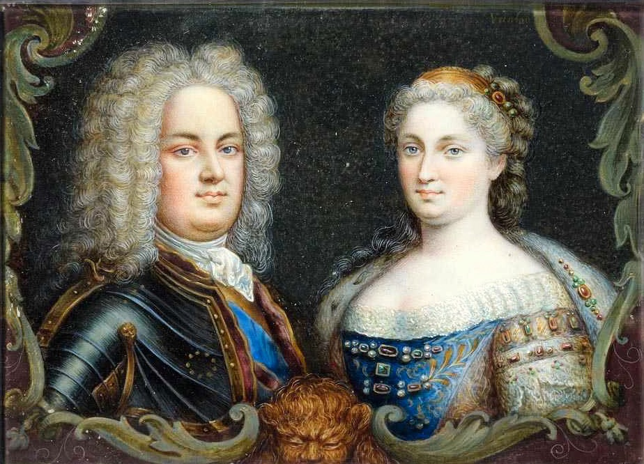 Stanisław Leszczyński z żoną Katarzyną.