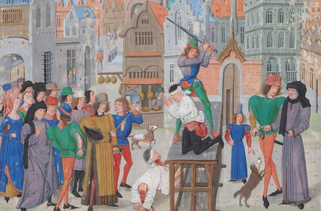 Aż do XIX wieku egzekucje były krwawym spektaklem (domena publiczna).
