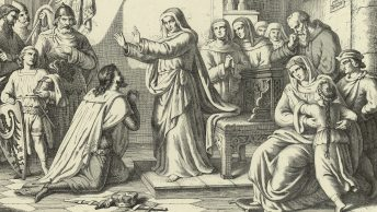 Święta Jadwiga wyprawia syna przeciw tatarom