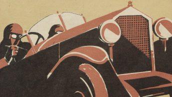 Auto. Ilustrowane czasopismo sportowo-techniczne. Ilustracja okładkowa z 1925 roku