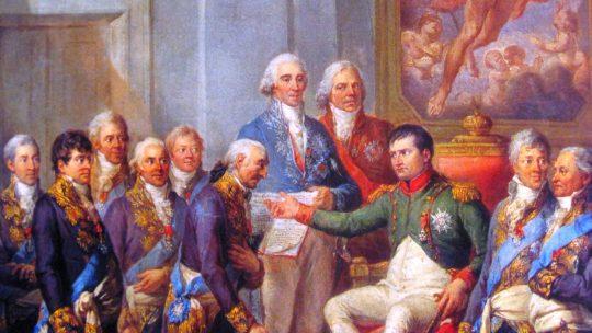 Napoleon zgodził się na utworzenie buforowego Księstwa Warszawskiego, ale czy naprawdę myślał o odbudowie niepodległej Polski? (fot. Marcello Bacciarelli/domena publiczna).