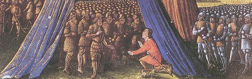 Balian z Ibelinu na rycinie z końca XV wieku.