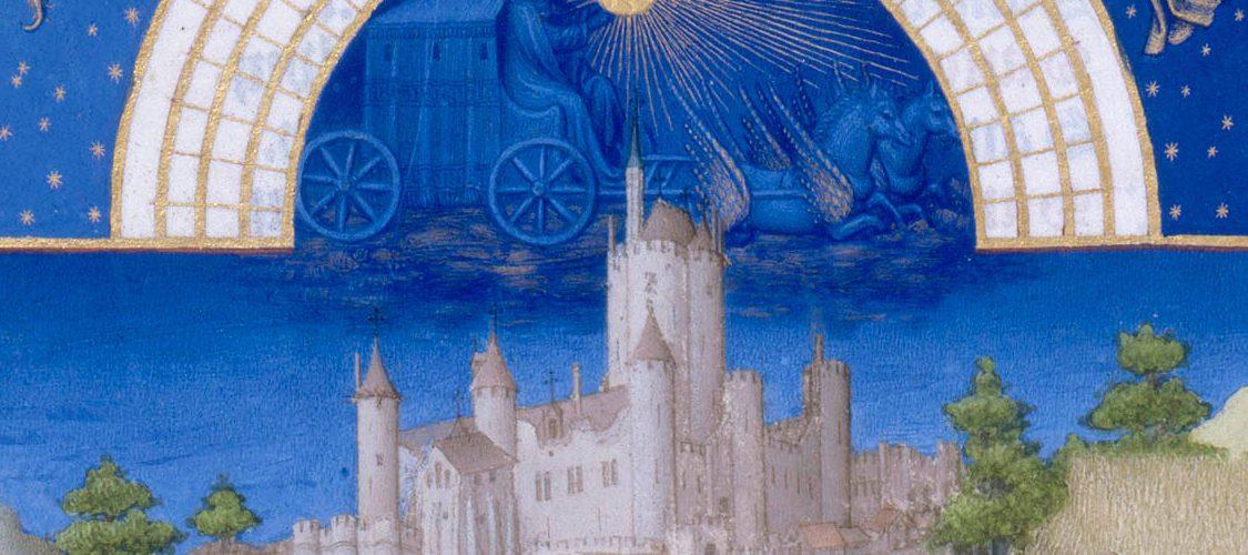 Fragment ilustracji z XV-wiecznego kalendarza