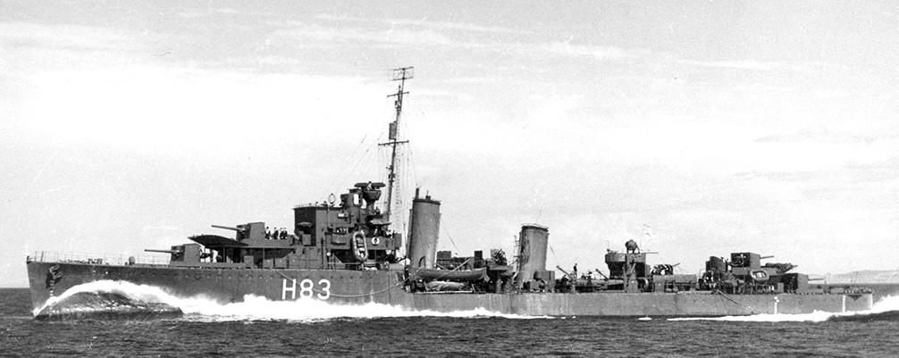 HMCS St. Laurent. Okręt, króry przybył na ratunek tonącym pasażerom Arandora Star