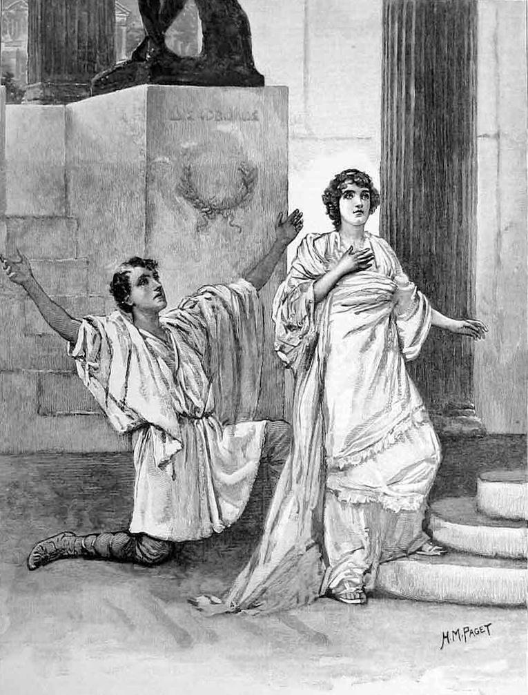 Hypatia nigdy nie związała się z żadnym mężczyzną. Chociaż nie mogła narzekać na brak adoratorów (H. M. Paget/domena publiczna).