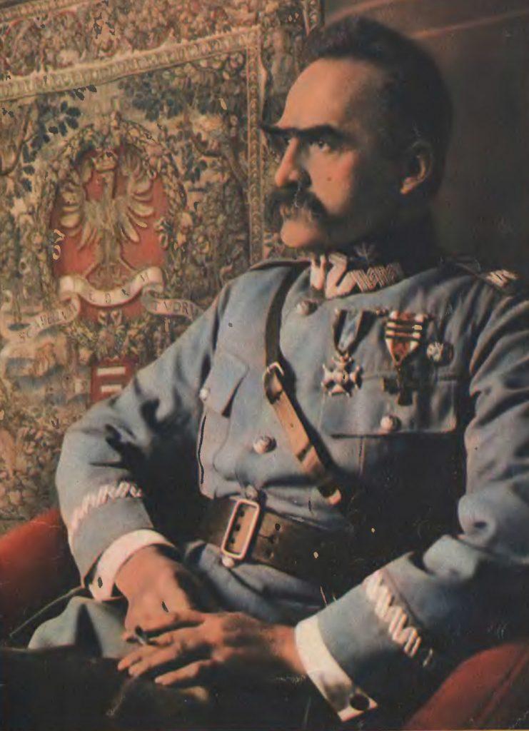 Niemcy mieli nadzieję, że powołanie się na mit Józefa Piłsudskiego przekona Polaków do walki z Armią Czerwoną (domena publiczna).