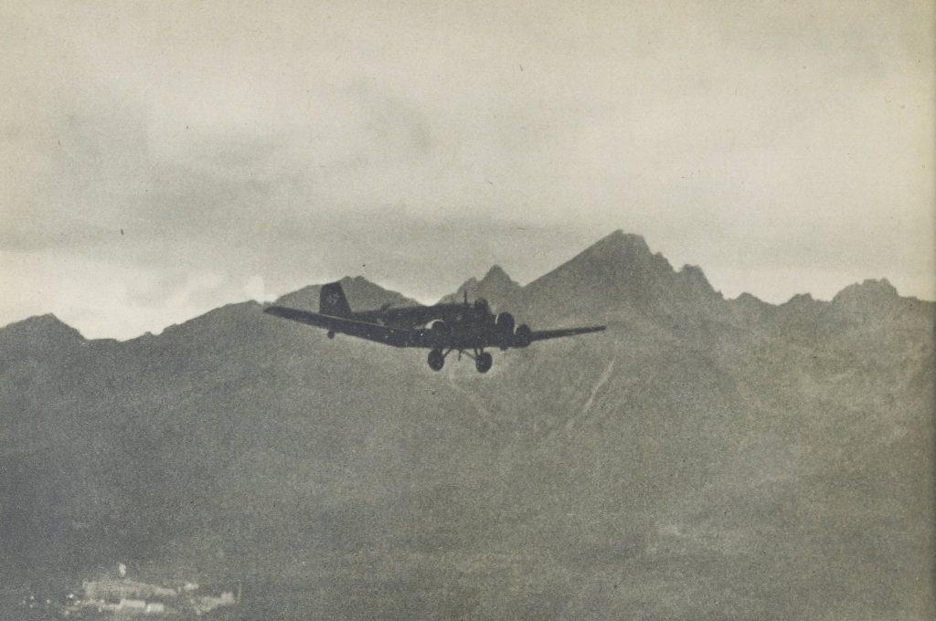 Ju 52 na tle Tatr