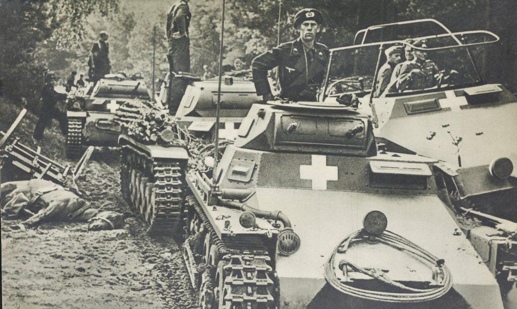 Kolumna czołgów Panzerkampfwagen I.