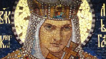 Księżna Olga Kijowska na mozaice. Fot. Cherubino, lic. CC-BY-SA 4,0.