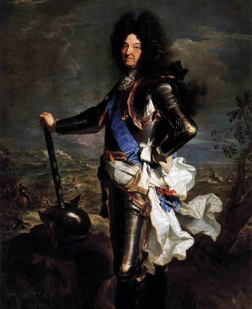 Może i Ludwik XIV odnosił spektakularne zwycięstwa w polityce i na wojnie, ale z próchnicą sromotnie przegrał (Hyacinthe Rigaud/domena publiczna).