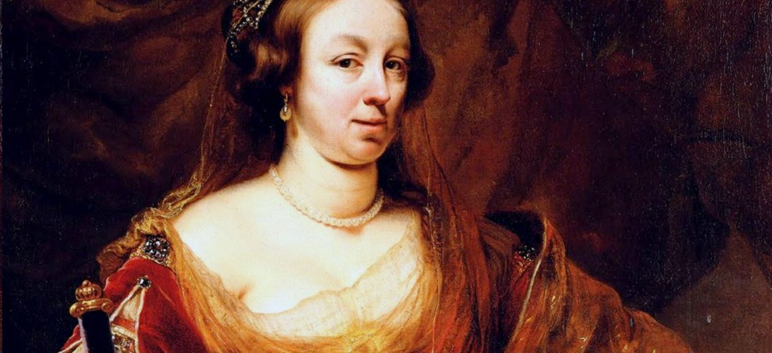 Ludwika Maria Gonzaga na portrecie pędzla Ferdinanda Bola.