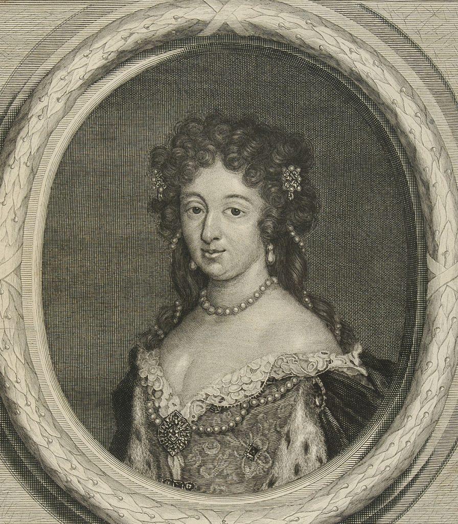 Maria Kazimiera według Pietera Stevensa (ok. 1676 roku).