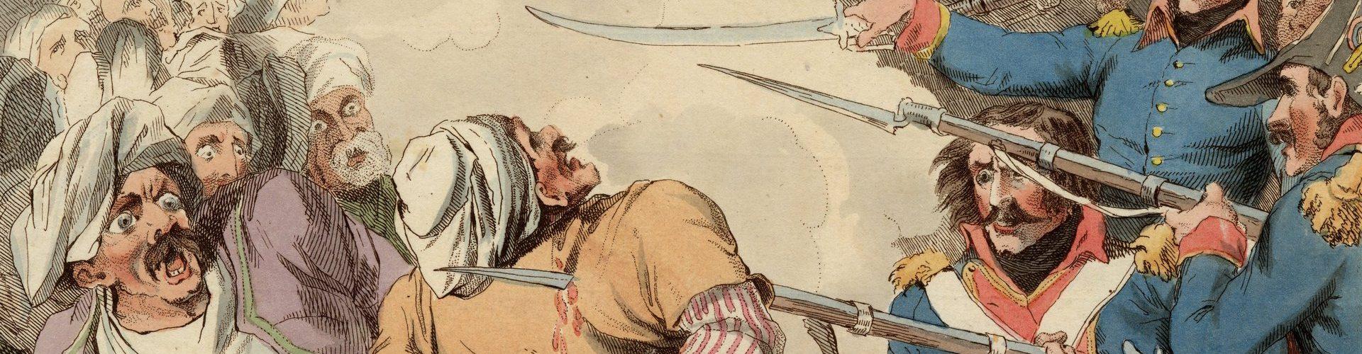 Masakra obrońców Jaffy (M.K. Porter/domena publiczna).