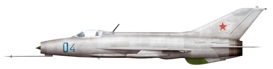 Mig-21F13 w barwach Związku Radzieckiego (ryc. Newresid, lic. CC-BY-SA 3,0).