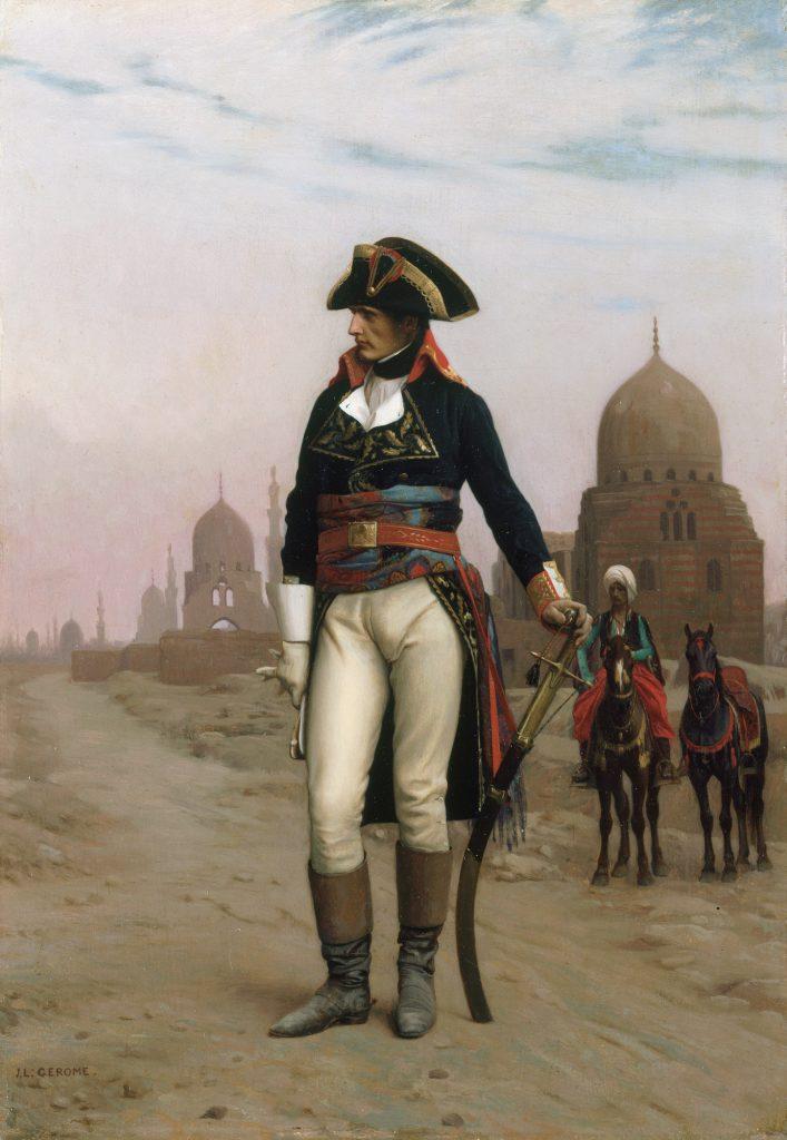 Napoleon w czasie kampanii egipskiej miał usta pełne frazesów (Jean Léon Gérôme/domena publiczna).