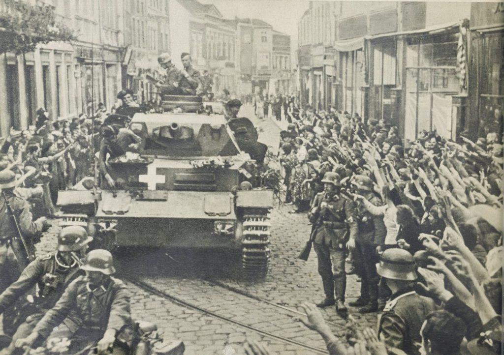 Powitanie Wehrmachtu w Grudziądzu