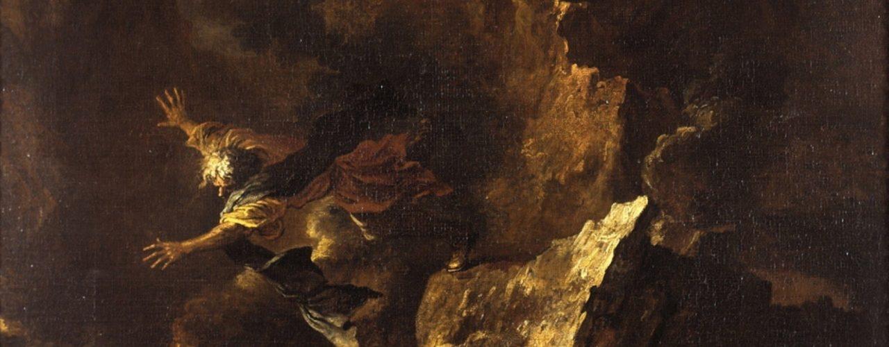 Los Empedoklesa inspirował wielu artystów (fot. Salvator Rosa/domena publiczna).)
