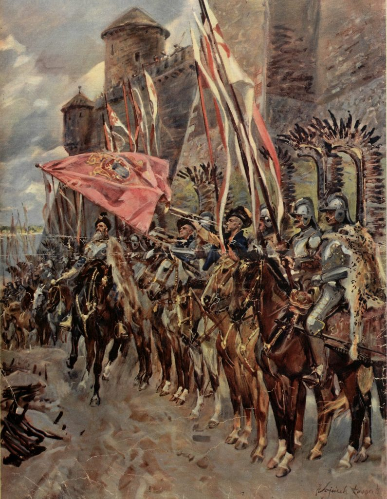 Poza żołdem husarzom przysługiwała również tak zwana hiberna (Wojciech Kossak/domena publiczna).