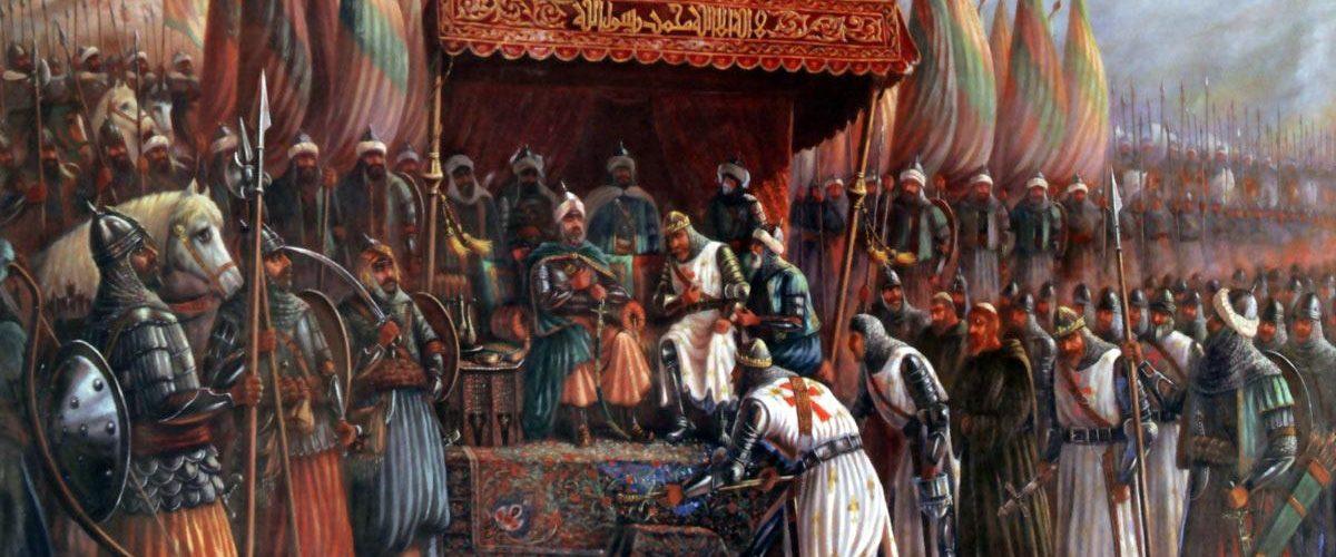 Wyobrażenie Saladyna w roku 1187