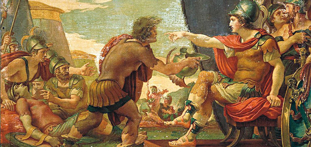 Aleksander Wielki na obrazie Giusette Cadesa.