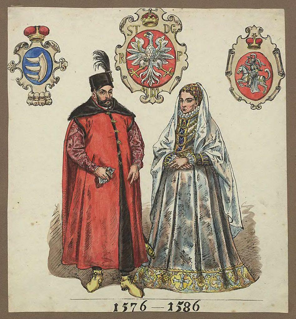 Anna Jagiellonka i Stefan Batory według Jana Matejki.