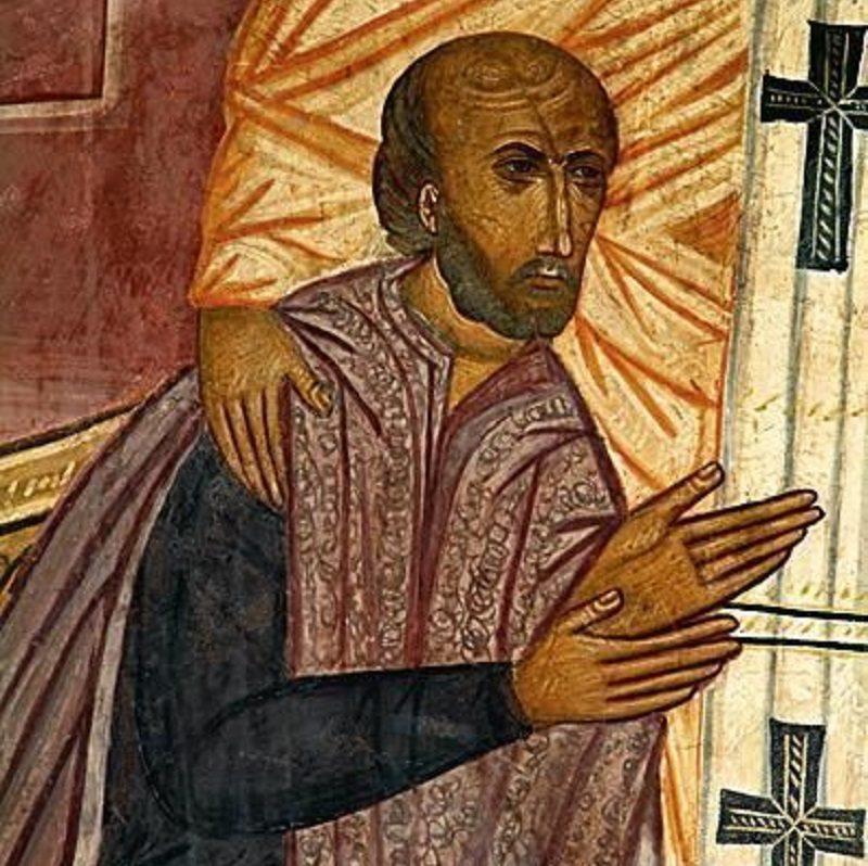 Fragment fresku z Kaplicy Świętej Trójcy w Lublinie. Malowidło powstało jeszcze za życia Jagiełły i koresponduje z tym, jak opisano go w zachowanych źródłach. Przyjmuje się, że jest to jego najbardziej realistyczny portret.