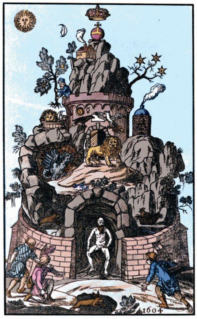 XVIII-wieczne przedstawienie grobu Christiana Rosenkreutza (domena publiczna).