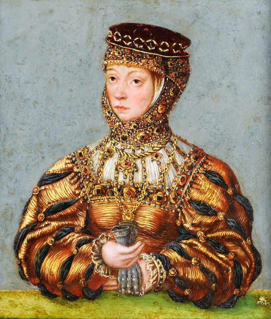 Jeden z niewielu portretów Barbary Radziwiłłówny z epoki. Miniatura wykonana ok. 1553 roku w warsztacie Łukasza Cranacha Młodszego. Obecnie w zbiorach Muzeum Czartoryskich.