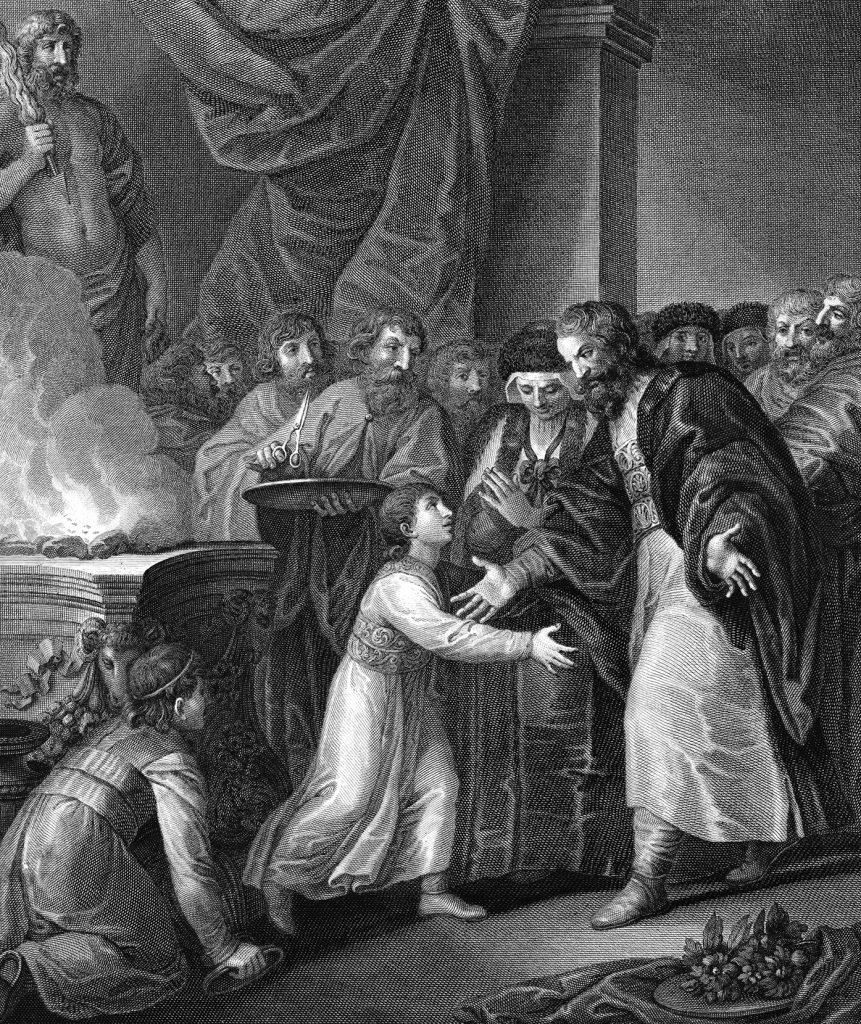 Postrzyżyny Mieszka Pierwszego. Przyszły książę z ojcem, matką... i jeszcze bez siedmiu żon.
