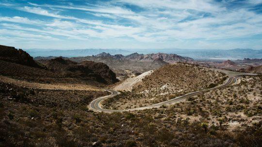 Route 66 w pobliżu Oatman w Arizonie.
