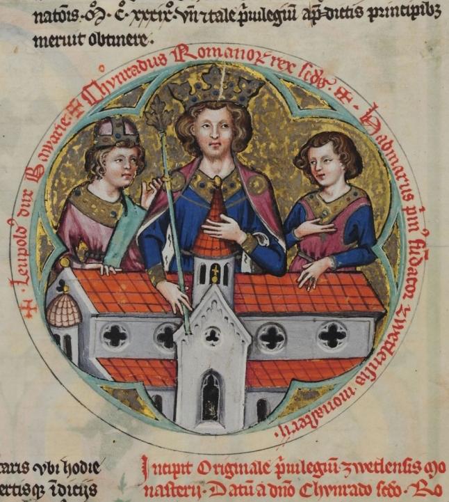 Król niemiecki Konrad II na miniaturze.