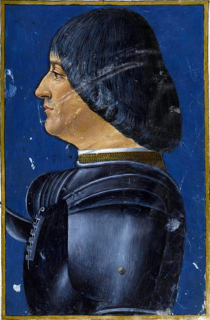 Portret Lodovica Sforzy autorstwa Giovanniego Ambrogio de Predis (domena publiczna).