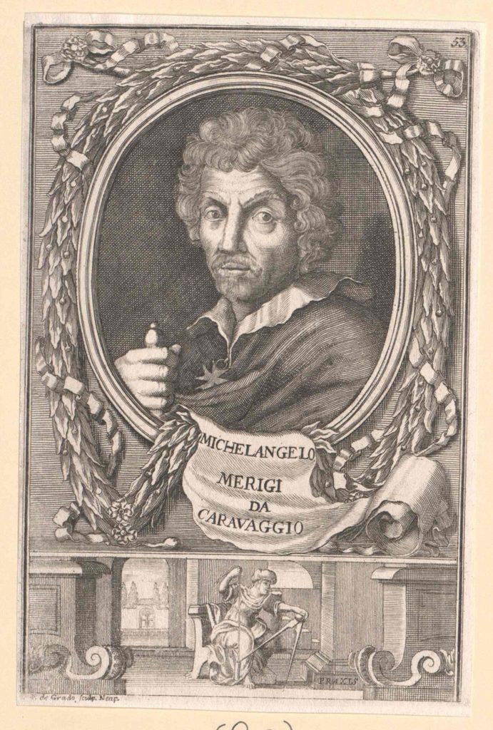 Michał Anioł według Caravaggia (domena publiczna).