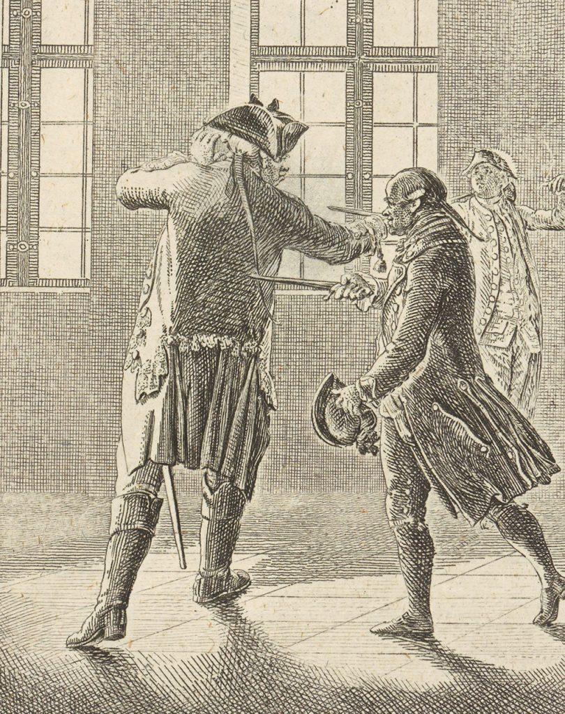 Pojedynek na grafice z końca XVIII wieku