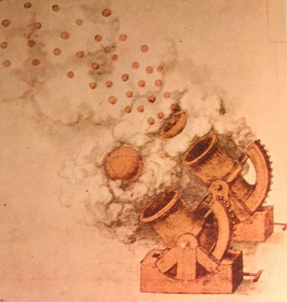 Projekt działa sporządzony przez Leonarda da Vinci (domena publiczna).
