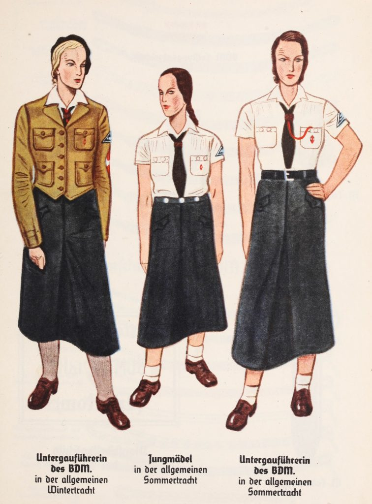 Tak wyglądał strój dziewcząt z Jungmädelbund (domena publiczna).