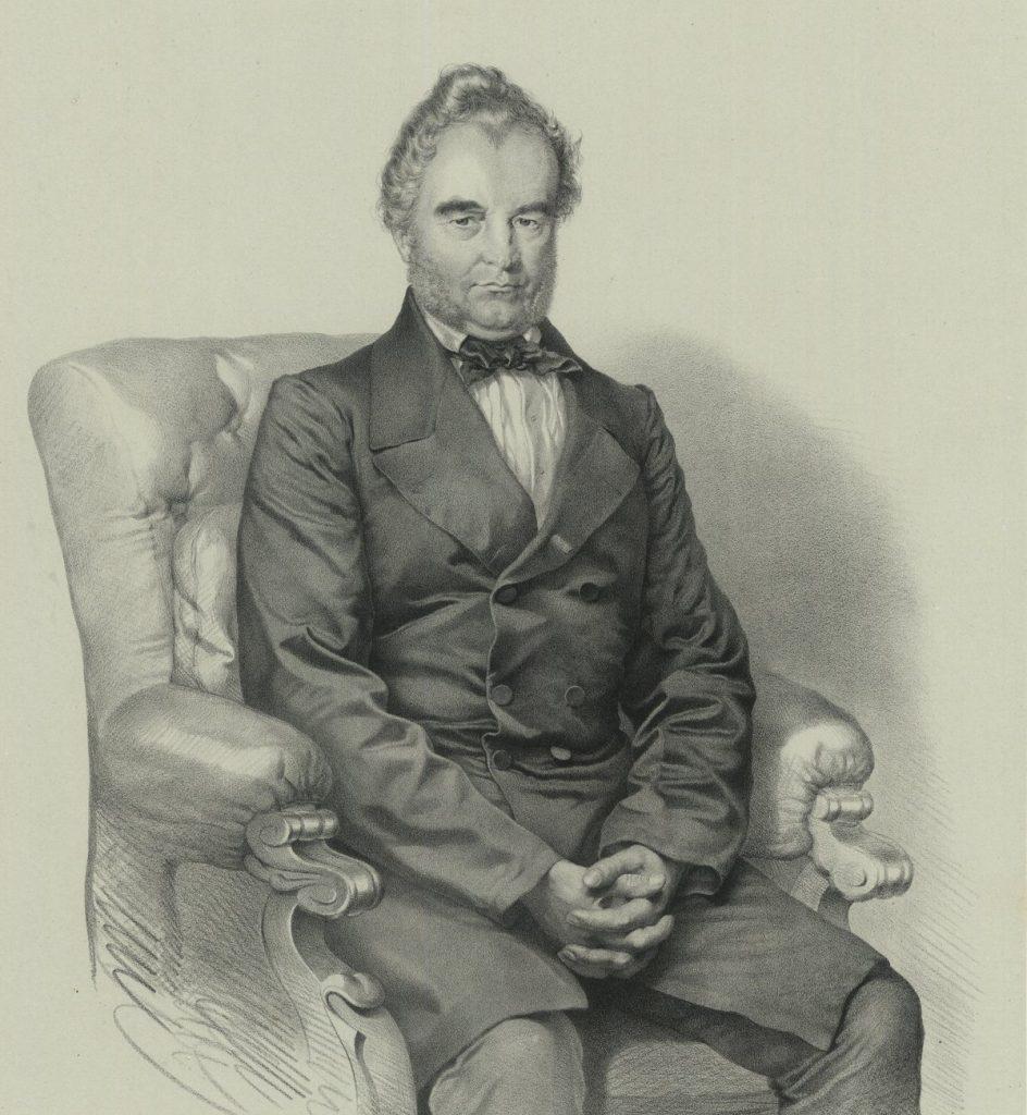 Józef Dietl na portrecie z końca lat 50. XIX wieku (domena publiczna).