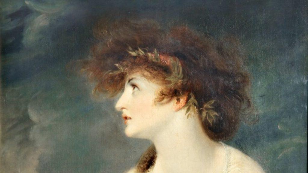Zdaniem niektórych badaczy Anyte pochodziła z Lesbos. Na ilustracji - XIX-wieczne przedstawienie Safony.