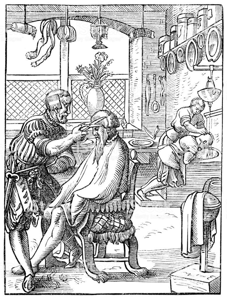 Golibroda Zygmunta Starego zgarniał roczni prawdziwą fortunę. Ilustracja poglądowa (domena publiczna).