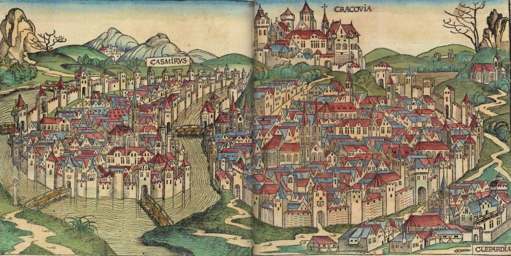 Kraków, Kazimierz oraz Kleparz w całej okazałości (domena publiczna).