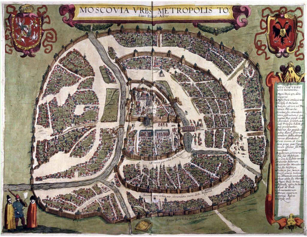 Mapa Moskwy z 1610 (domena publiczna).
