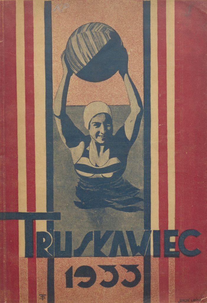 Okładka ilustrowanego przewodnika po Truskawcu (domena publiczna).