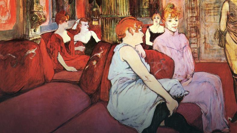 """W XIX wieku popularny był pogląd, że """"prostytucja istnieje na to, by młodzieży zdrowie zapewnić"""" (Henri de Toulouse-Lautrec/domena publiczna)."""