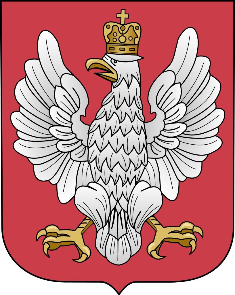 Taki wzór godła obowiązywał w Polsce w latach 1919-1927 (domena publiczna).