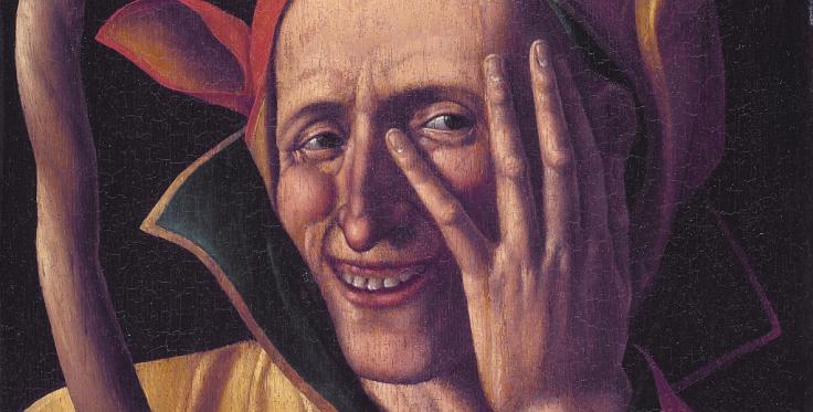 XV-wieczne wyobrażenie dworskiego błazna.