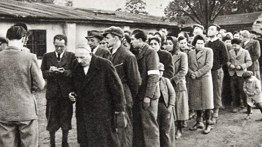 Deportacja słowackich Żydów (domena publiczna).