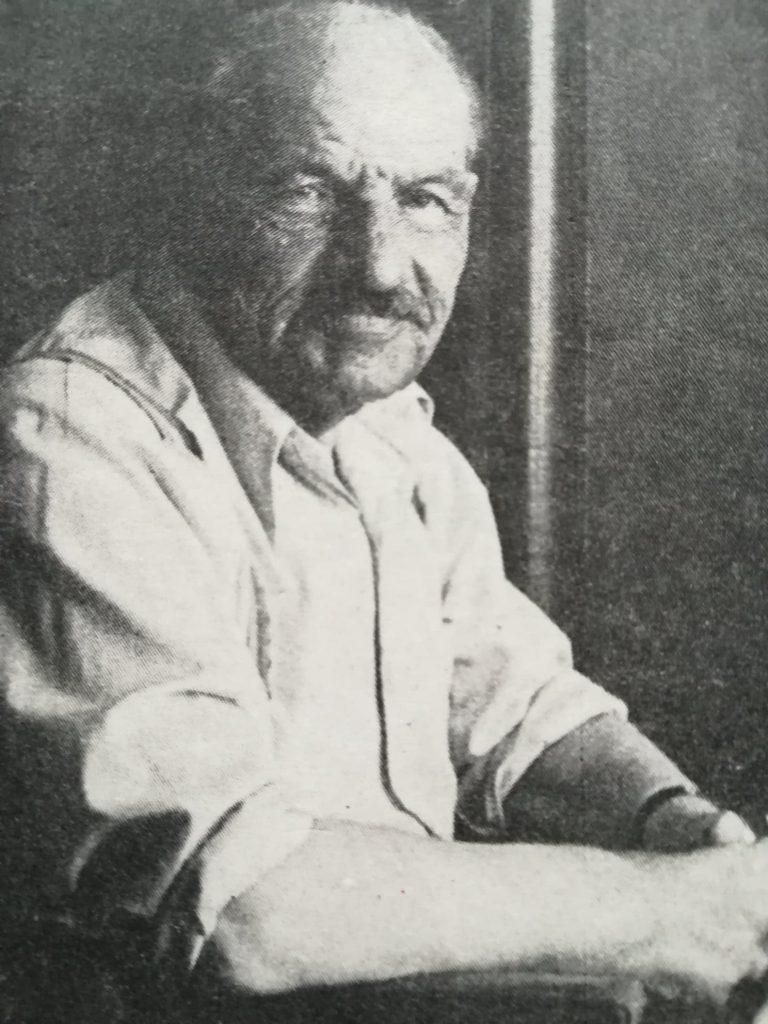Dominik Baczyński na zdjęciu wykonanym wiele lat po wojnie.