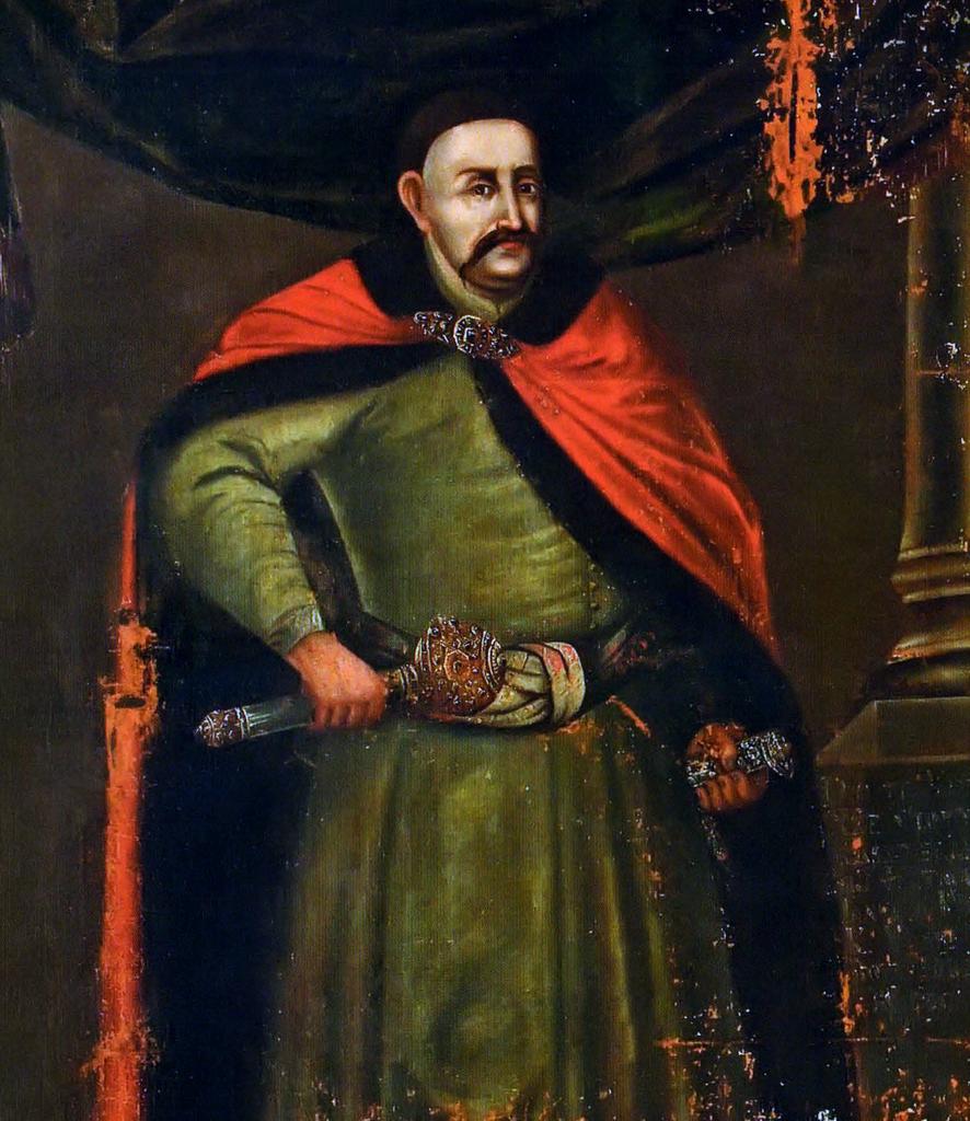 Hetman wielki koronny Dymitr Jerzy Wiśniowiecki w 1677 roku zainkasował z państwowej kasy bagatela 73 800 złotych (domena publiczna).