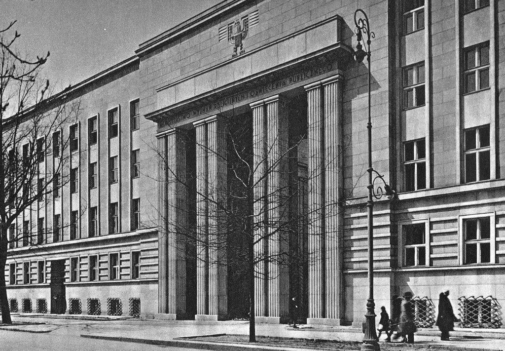 Gmach Ministerstwa Wyznań Religijnych i Oświecenia Publicznego (domena publiczna).